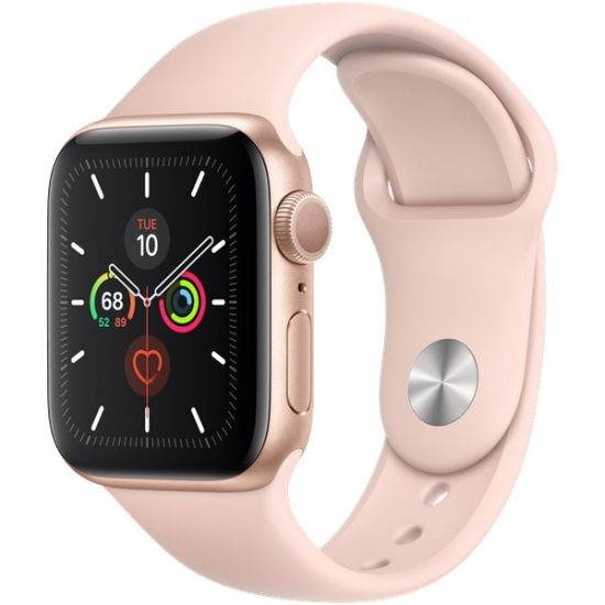 Apple Watch Series 5 GPS 40mm Gold (золотой) Aluminum Case with Pink Sand Sport Band